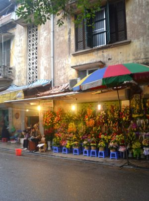 Flower market by morning