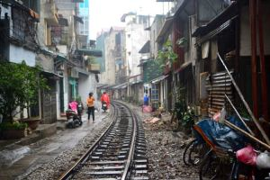 Trackside in Hanoi